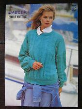 """Jaeger Knitting Pattern: Ladies Sweater, DK, 34-40"""", 5705"""