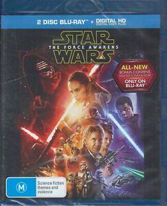 STAR WARS The Force Awakens BLU-RAY (2 x Disc Set) NEW & SEALED Free Post