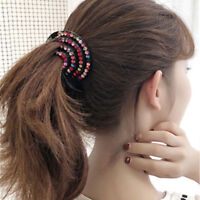 Fashion Ladies Girls Hair Clip Nest Rhinestone Hairpin Hair Claw Ponytail Holder