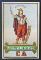 Ancienne étiquette FIL DE LIN VERCINGÉTORIX CÉSAR french linen thread label 3