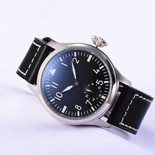 47mm Parnis Hand Winding Movement Men Boys Pilot Watch 316L Stainless Steel Case