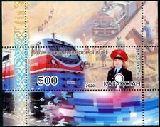 KAZAKHSTAN 2020 TRANSPORT WORKER'S DAY (TRANIN & RAILWAY) SOUVENIR SHEET 1 STAMP