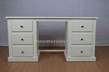HANDMADE DEWSBURY 6 DRAWER DRESSING TABLE IVORY (ASSEMBLED)
