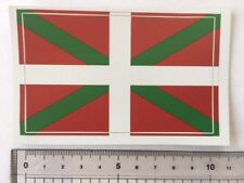 Basque Country (Euskadi) Vasco in Spain flag sticker peel off vinyl