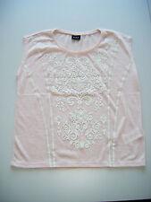 TOP Trendiges Shirt   #  VILA  #   Gr. L  rosa  mit Ornamenten