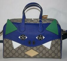 NWT GUCCI GG SUPREME CANVAS MONSTER GIRLS CHILDREN HANDBAG BAG  525517