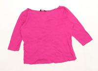 Dorothy Perkins Womens Size 14 Cotton Pink T-Shirt (Regular)