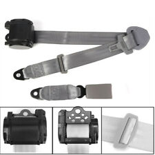High Strength Polyester Car 3 Point Seat Belt Lap & Diagonal Belt Grey Universal