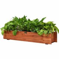 36 Inch Wooden Flower Planter Box Garden Yard Decorative Window Box Outdoor