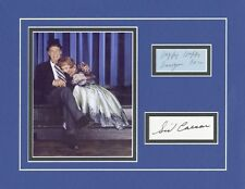 SID CAESAR & IMOGENE COCO-YOUR SHOW OF SHOWS-SIGNED CARD & PICTURE DISPLAY-AFTAL