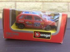 FIAT TIPO MK1 RALLY CAR RED 1:43 BURAGO MODEL * BOXED *