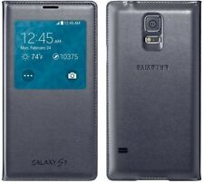ORIGINALE SAMSUNG S Vista Custodia Flip Galaxy S5 SM G900 F Smart Phone copertura originale