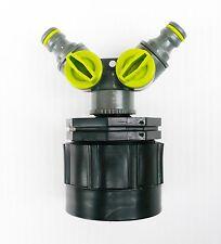 ADAPTADOR IBC H/D  a Doble 1.3cm Cierre Ajuste A Presión Manguera conector. c/