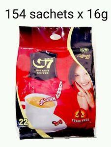 154 x16g Vietnam Trung Nguyen G7 Instant Coffee 3 in 1 COLLAGEN ADDED SUGAR FREE