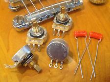 4X CTS TAOT CUSTOM 525K SHORT Shaft Audio Taper Pots + .022 orange drops - 500K