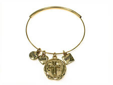 4031437 Faith Hope Love Expandable Bangle Christian Inspirational Religious B...