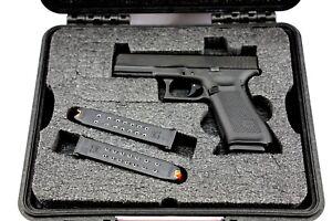 Precut Glock 17 19 21 17L Zev +nameplate Pistol foam kit fits Pelican 1400 case