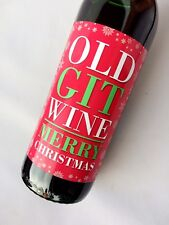 OLD GIT MENS FUNNY CHRISTMAS WINE LABEL GIFT PRESENT