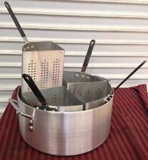 New Stove Top Boiler Pasta Cooker & Baskets 20 Qt #1917 Alskpc005 Thunder Group