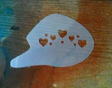 Hearts Stencil, Face Painting, Body Art,Easy Use, Easy clean. P+P included.