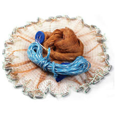 Hand Cast Fishing Net Easy Throw Bait Strong Tire Line Mesh w/ Sinker 8/12/16Ft