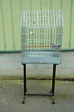 LARGE PARROT CAGE HEAVY DUTY QUALITY  EXCELLENT USED CONDITION c/w STAND