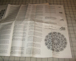 Vintage CROCHETED DOILES Pattern 756 - Needlecraft Department NY, NY