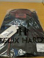 Felix Hardy Mens Shirt XL Black Pure Cotton Button Up LS New Ref HVS