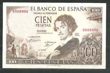 BILLETE DE 100 PESETAS. 1965. GUSTAVO ADOLFO BECQUER. SIN SERIE. MBC+