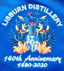 2020 Lisburn Distillery 140th Anniversary Blue Shirt - special embroidered badge