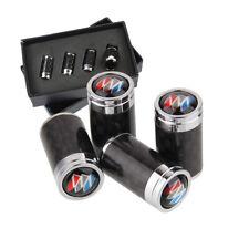 4x Carbon Fiber Auto Car Wheel Tire Air Valve Caps Stem Cover With Buick Emblem