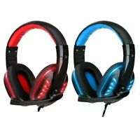 3.5mm Gaming Headset MIC LED Headphones for PC Laptop PS5 PS4 Slim Pro Xbox One