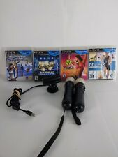2 Sony PlayStation Move Motion Controllers, eye Camera , With PS3 4 motion games