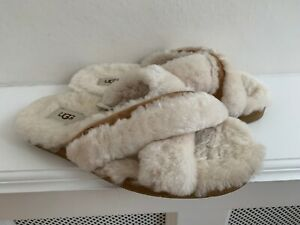 AUTHENTIC Ugg Sand SCUFFITA Cross Shearling Warm Slippers  UK 5 : HARDLY WORN