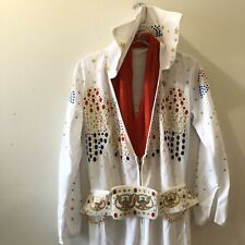 Elvis Presley White Jumpsuit Costume Elvis Now Rubie's Costume Co. Large New