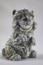 12cm DOG MONEY BOX - FUN TOOTHY TERRIER BANK - 2 COLOURS - CUTE USEFUL GIFTWARE