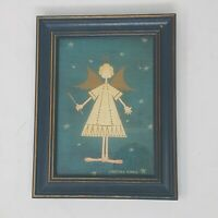 Vintage Angel Print CHRISTMAS Warren Kimble Rustic Farmhouse Country Distessed