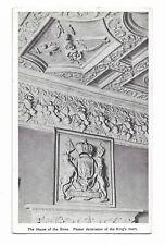 HOUSE OF BINS Linlithgow Plaster decoration in King's Room Vintage Postcard 117E