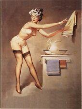 PinUp Girl im Bad Nostalgie Kühlschrank Magnet 6x8 cm Tin Sign EMAG365