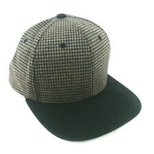 Original Pit Bull Snapback Hat One Size Brown Tweed Pattern & Black Euc