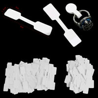 50/100Pcs Blank price tags necklace ring jewelry labels paper stickers DD