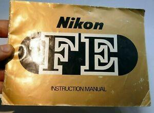 Nikon FE camera Manual Instruction Guide English EN