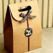 10PCs Paper Handles Xmas Party Holiday Present Bag Gift Bag Holder Shopping Bags
