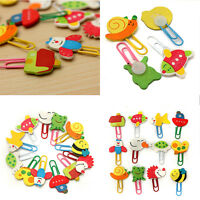 12Pcs/Lot Practical Paper Note Pin Clip Bookmarks Cute Cartoon Animal Paperclip