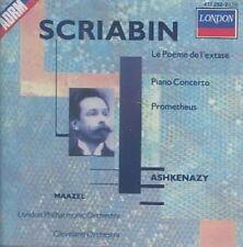 NEW Scriabin: Le Poème De L'Extase; Piano Concerto; Prometheus (Audio CD)