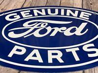 """VINTAGE GENUINE FORD PARTS 17"""" PORCELAIN ADVERTISING CAR TRUCK GASOLINE OIL SIGN"""