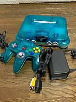 Nintendo 64 Clear Blue Console Controller cable Japanese ver.