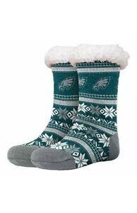 Philadelphia Eagles FOCO Footy Slippers Womens 6-10 Non Skid Bottom