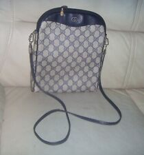 Vintage Gucci Navy Blue GG Monogram Shoulder Crossbody Bag - ITALY