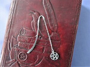 Pentacle Silver Bookmark~Ideal For Your Book of Shadows~Witchcraft~Pagan~Wicca